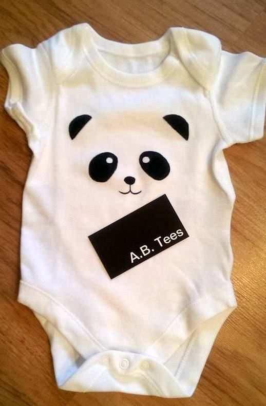 Pin Von Viviana Garza Auf Oso Panda Baby Strampler Body Bemalen