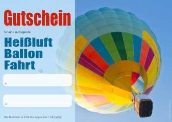 Erlebnisgutschein Heissluft Ballon Fahrt Pdf Vorlage Zum Ausdrucken