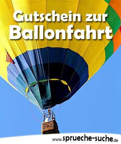 Gutschein Zur Ballongfahrt Schenken Reim Gedicht