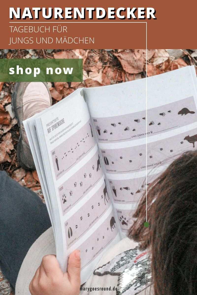 Naturentdecker Tagebuch Fur Kinder Zum Ausfullen Einkleben Und