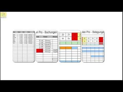 Excel Belegungsplan Fur Hotels Und Pensionen Office Vorlagen