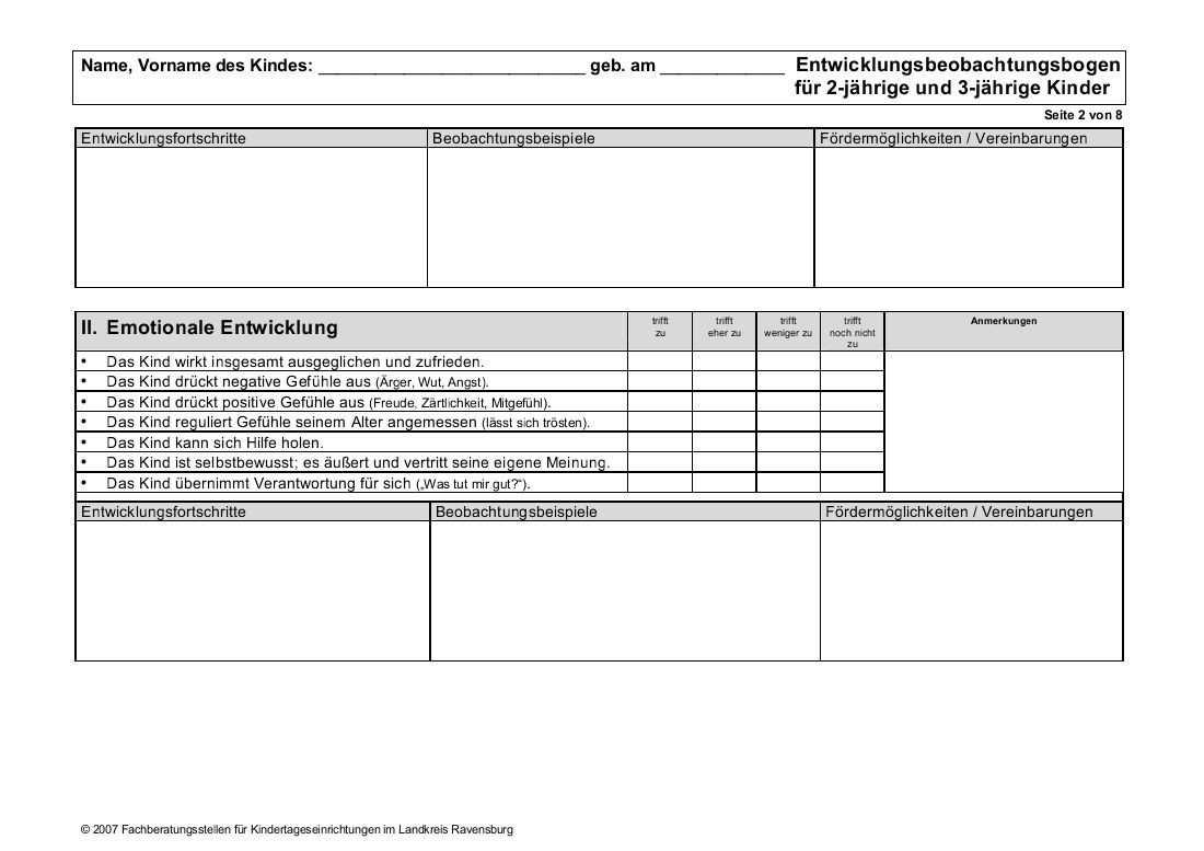 Ravensburger Bogen Zur Entwicklungsbeobachtung Lvkita