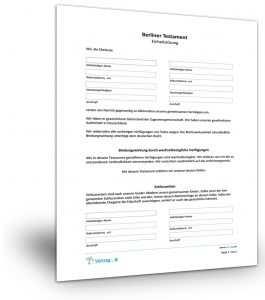 Berliner Testament Muster Vorlage Patientenverfugung Kostenlos