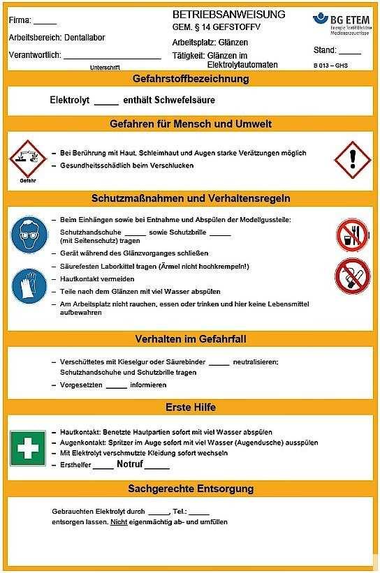 Arbeits Und Gesundheitsschutz Im Dentallabor Management Ztm
