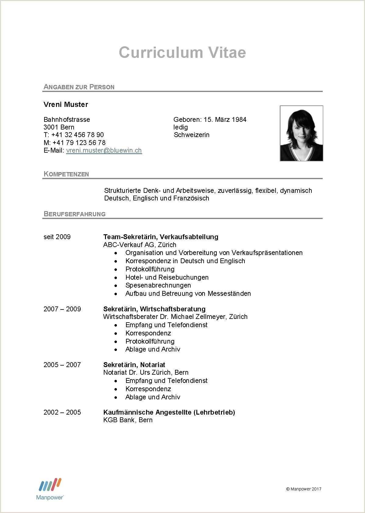 Lebenslauf Muster Fsj Type Of Resume And Sample Lebenslauf Muster