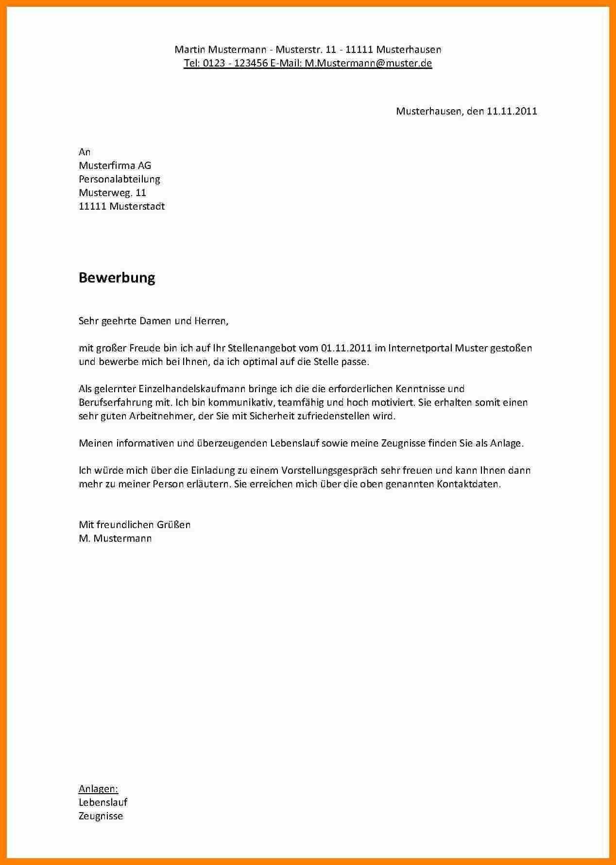 Einzigartig Bewerbung Nach Ausbildung Muster Briefprobe Briefformat Briefvorlage Bewerbung Vorlage Bewerbung Bewerbung Schreiben