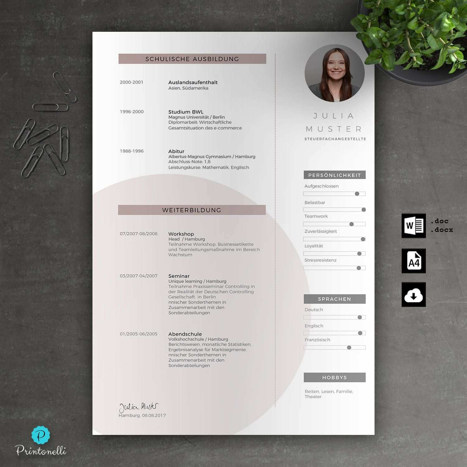 Application Template Cover Page Cv Letter For Word Instant