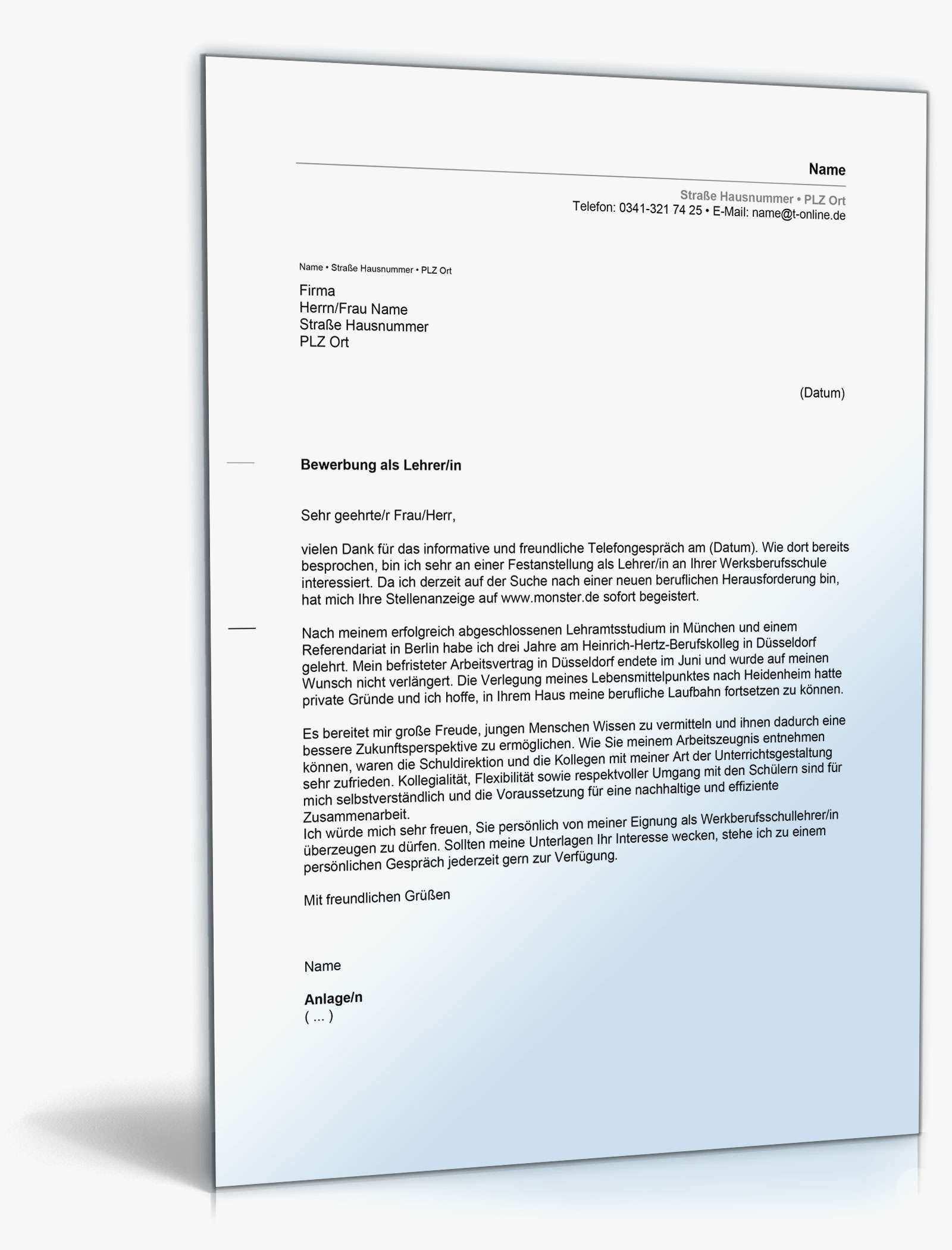 Einzigartig Bewerbung Als Hausmeister Quereinsteiger Briefprobe