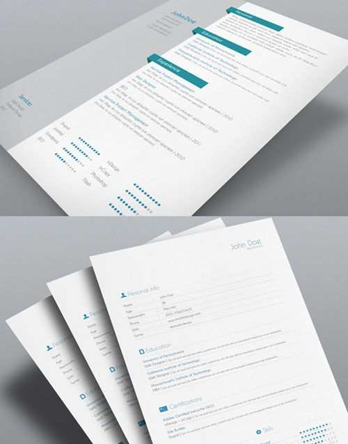 8 Sets Of Free Indesign Cv Resume Templates Exemple Cv Idee Cv