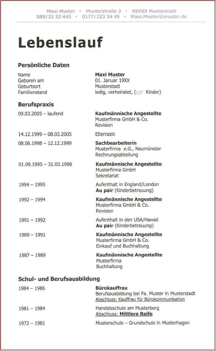 17 Frisch Ausfuhrlicher Lebenslauf Muster 2020 Fotos In 2020 Lebenslauf Vorlagen Lebenslauf Lebenslauf Muster