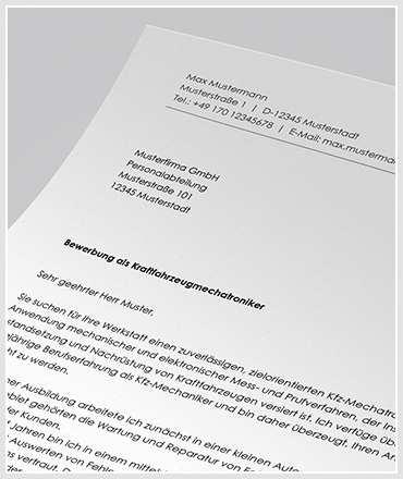 Bewerbung Als Kraftfahrzeugmechatroniker Kfz Mechatroniker