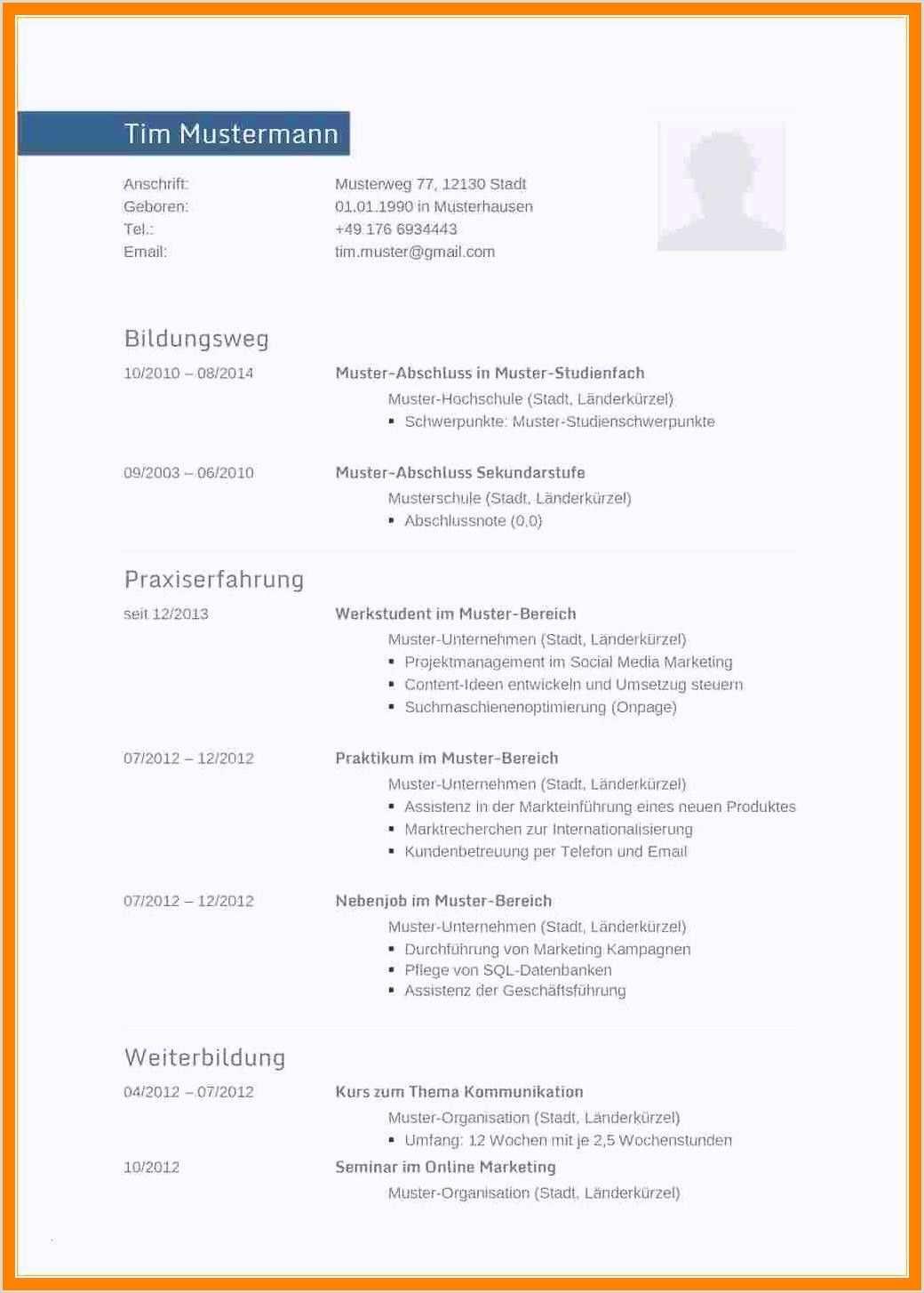 Lebenslauf Muster Geselle In 2020 Resume Words Resume Examples