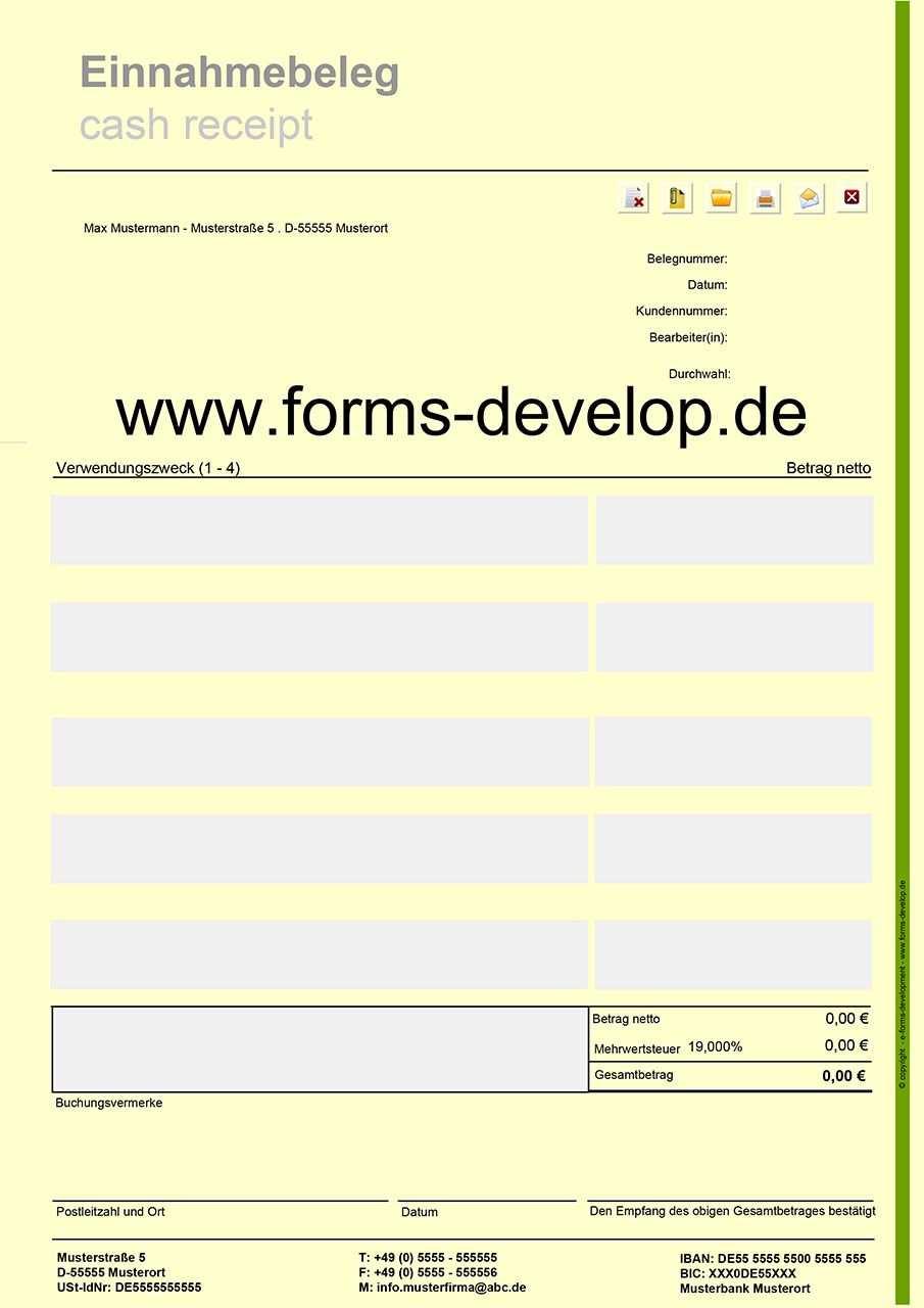 Pdf Formular Einnahmebeleg Einfache Schnelle Und Sichere
