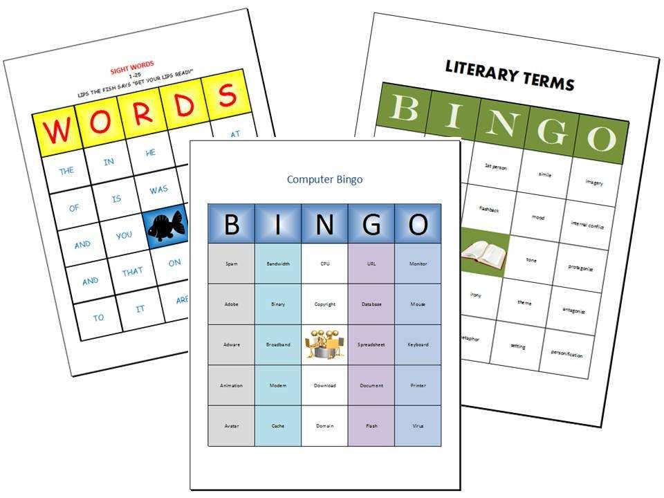 Bingo Cards Excel Schweitzer S Presentations