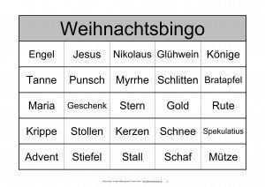 Themenbingo Weihnachten Bingo Bingo Spiele Weihnachtsbingo
