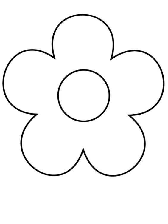 Ausmalbilder Blumen Malvorlagen 4 Gif 614 818 Dessin De Fleur