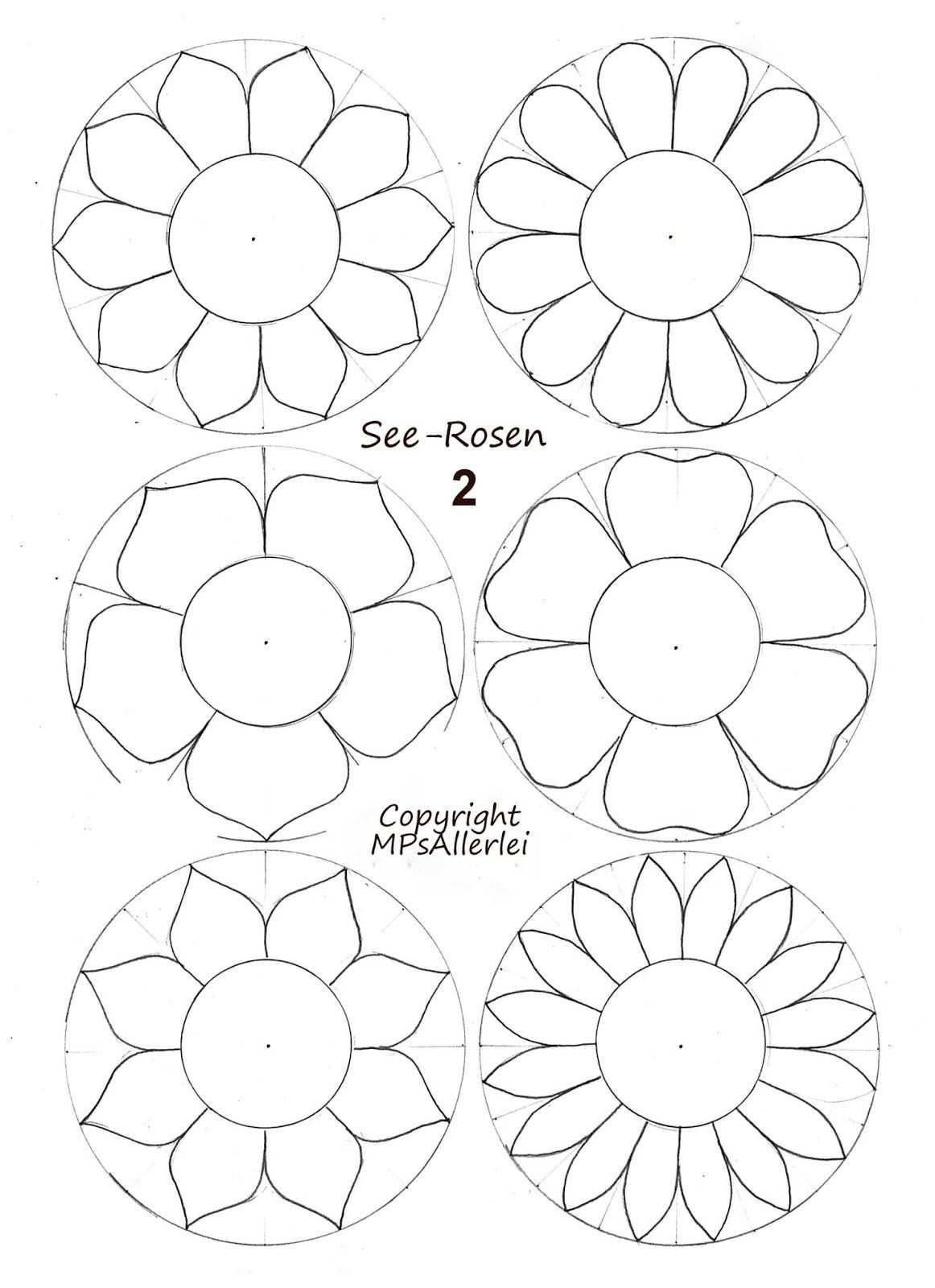 Ausdruckvorlage Seerosen 2 Vorlagen Blumen Basteln Blumen
