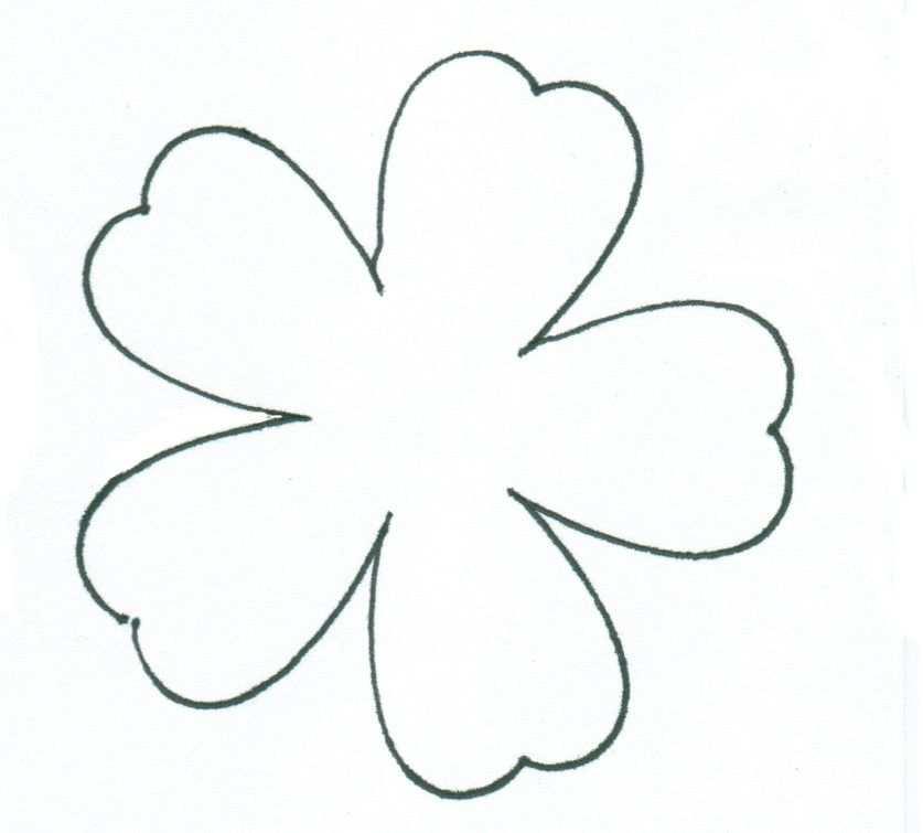 Blume Schablone Zum Ausschneiden Blumen Schablone Schablonen