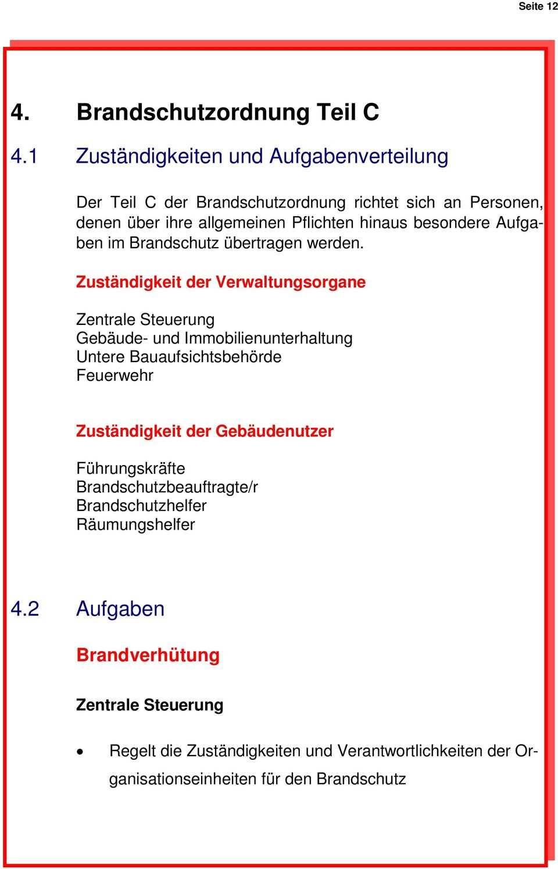 Muster Brandschutzordnung Allgemeine Verwaltung Pdf