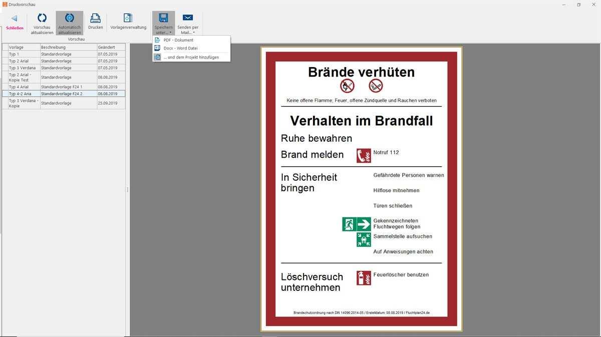Software Brandschutzordnung Erstellen 2020 Fluchtplan24