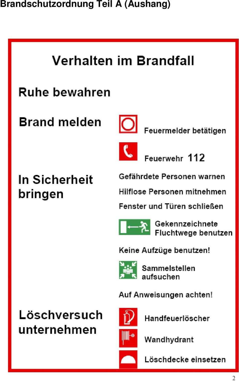 Brandschutzordnung Nach Din Teil A B C Der Pdf Free Download