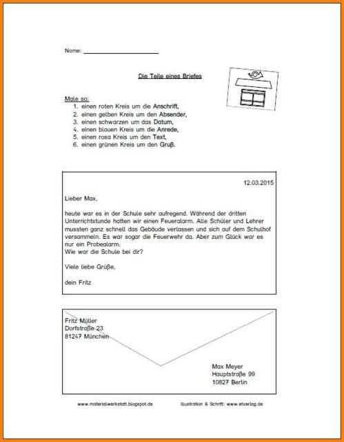 13 Adresse Brief 2019 Brief Schreiben Grundschule Vorlagen