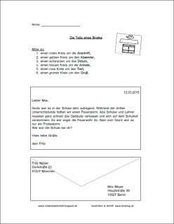Arbeitsblatter Zum Thema Brief Materialwerkstatt Brief