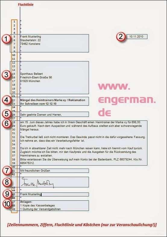 Formeller Brief Schreiben Briefe Schreiben Brief Deutsch