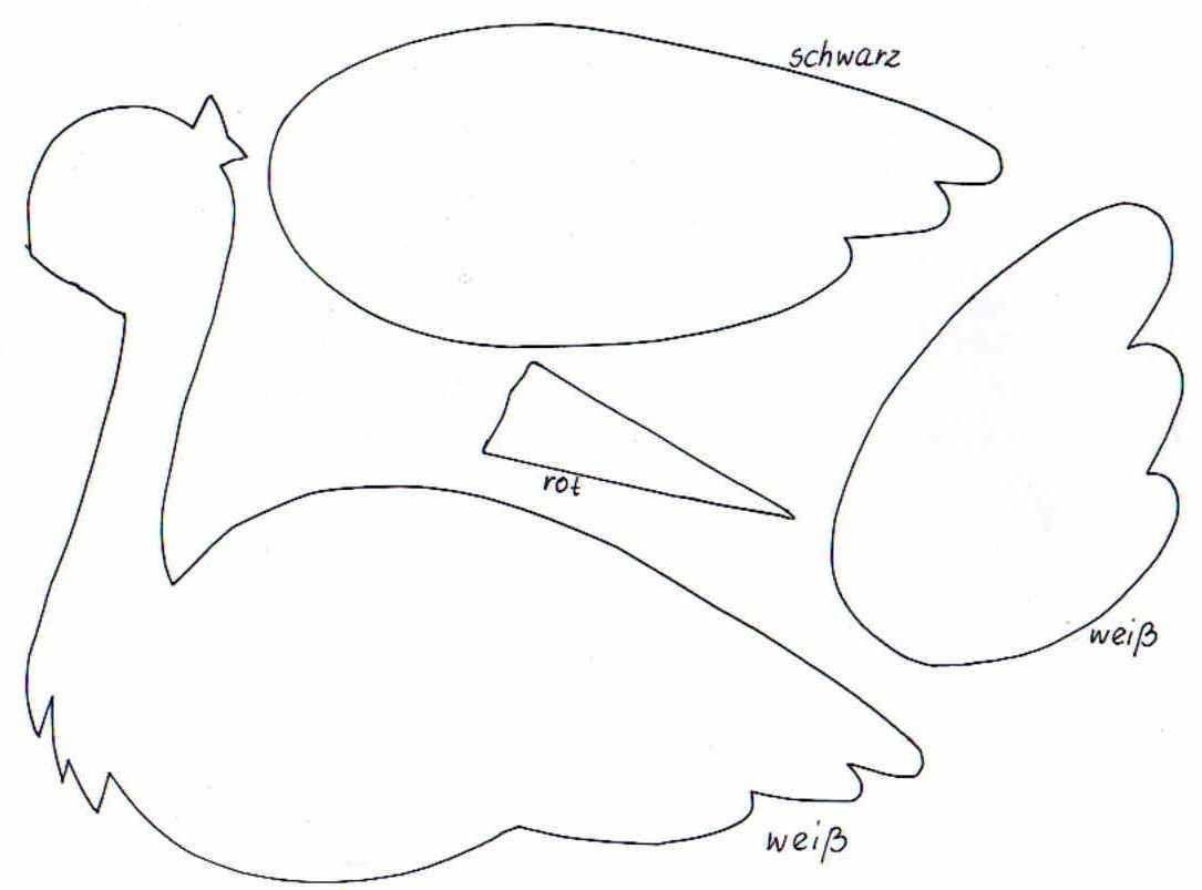 Storchbastelvorlage1 Baby Storch Basteln Storch Zur Geburt