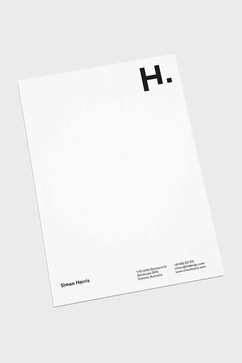 Minimal Briefbogen Vorlage Briefbogen Briefpapier Design