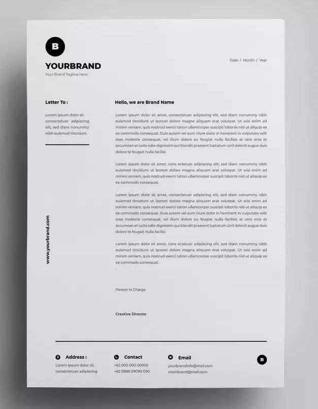 Briefkopf Design Vorlagen Ai Eps Briefkopf Design Schriftzug