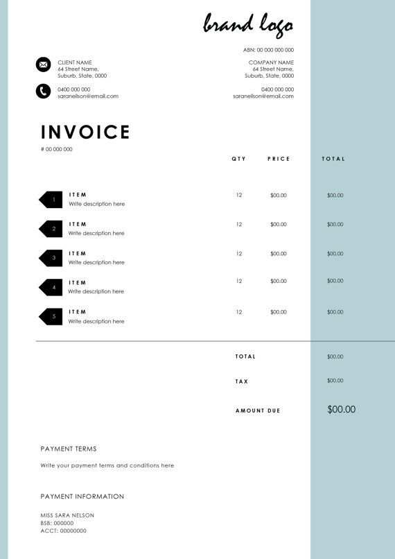The Nelson Invoice Template Receipt Ms Word Receipt Template