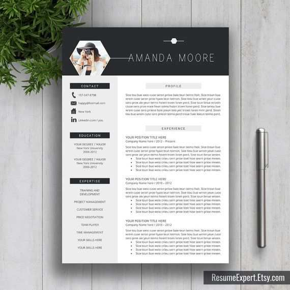 Professional Resume Template Bundle Cover Letter Cv Template