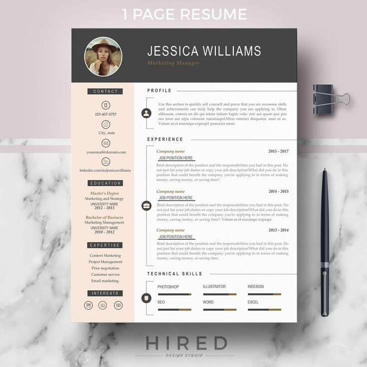 Professional Cv Template For Ms Word Pages Lebenslauf Design