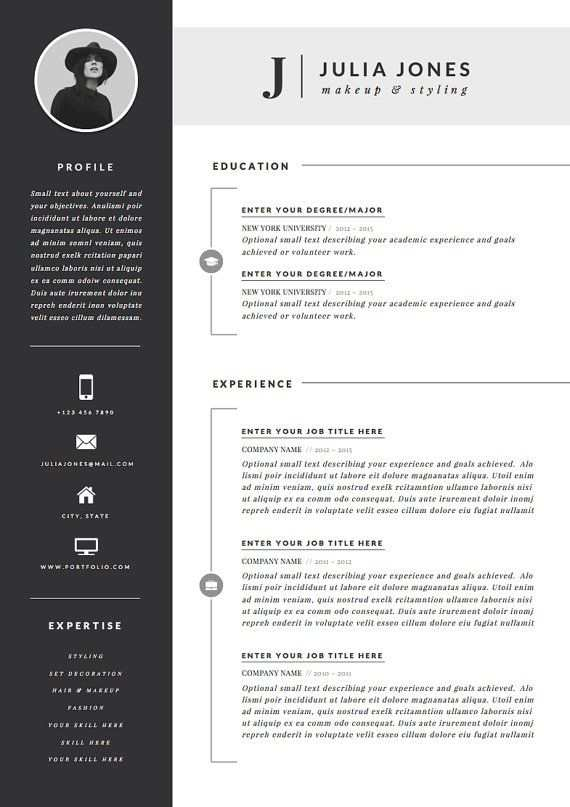 Professional Resume Template Cover Letter Icon Set For