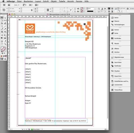 In 6 Steps Einen Briefbogen Im Indesign Erstellen Mit Bildern
