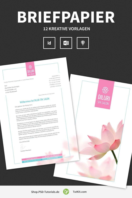 Briefpapier Designs Fur Word Indesign Und Coreldraw Briefpapier