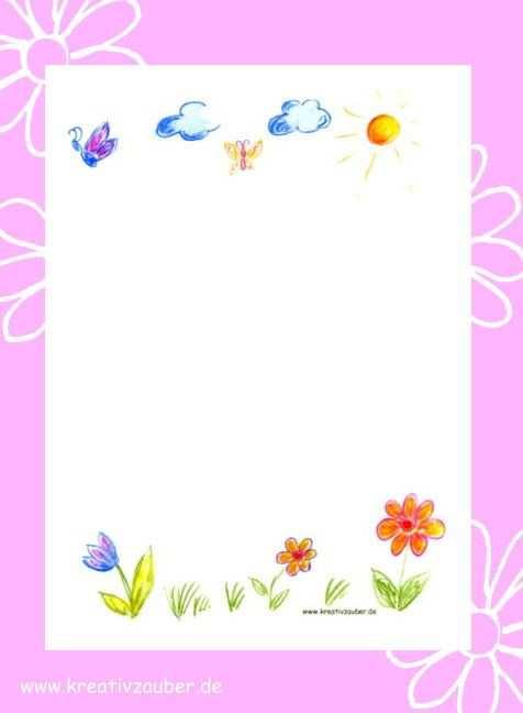 Briefpapier Kinder Briefpapier Zum Ausdrucken Briefpapier