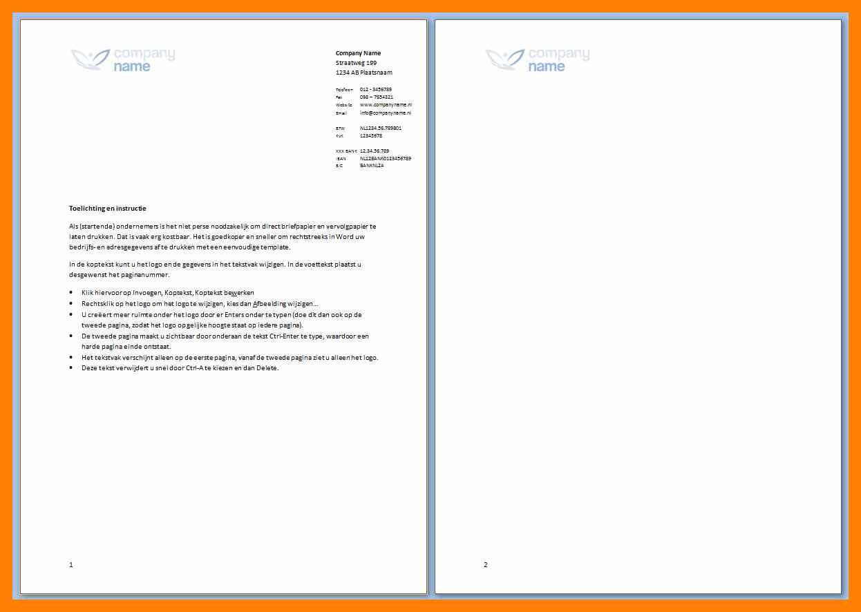 Briefpapier Vorlage Firma