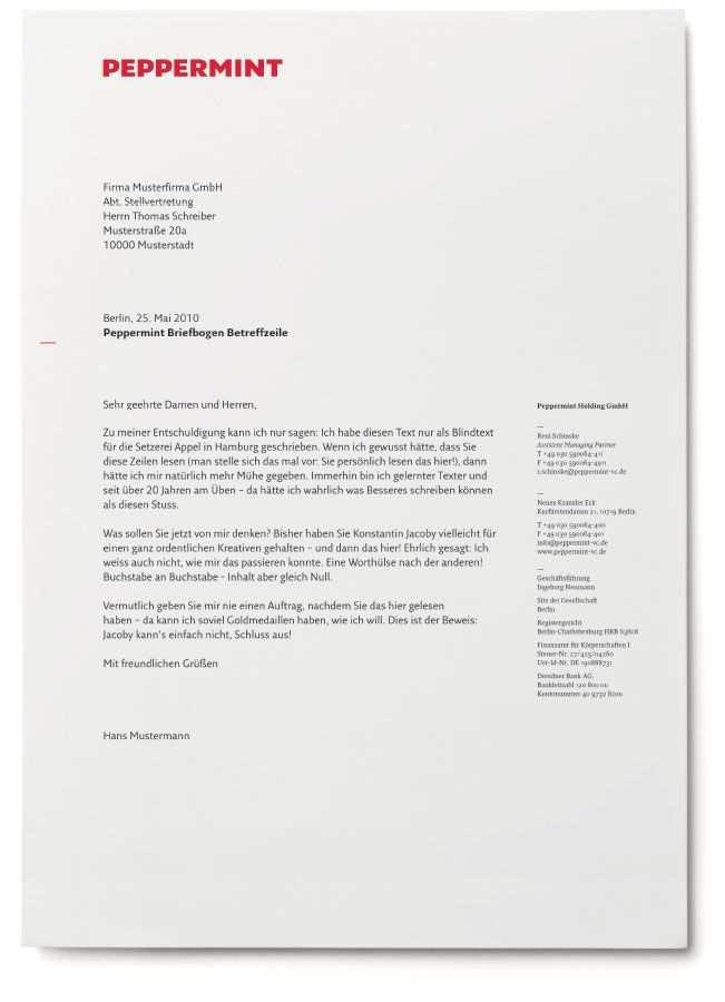 Peppermint Stan Hema Agentur Fur Markenentwicklung Berlin