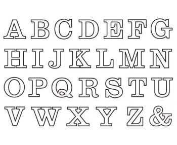 Buchstaben Zum Ausdrucken Buchstaben Vorlagen Zum Ausdrucken