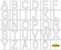 Bildergebnis Fur Buchstaben Vorlagen Zum Ausdrucken A Z