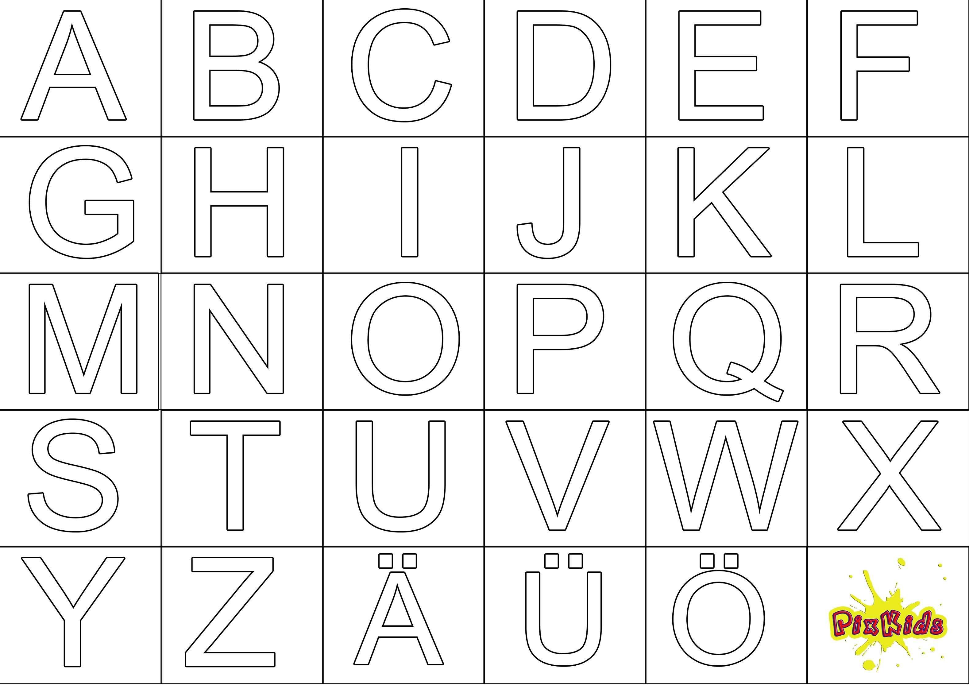 Ausmalbild Abc Buchstaben Vorlagen Zum Ausdrucken Alphabet Buchstaben Ausmalbilder Zum Ausdrucken