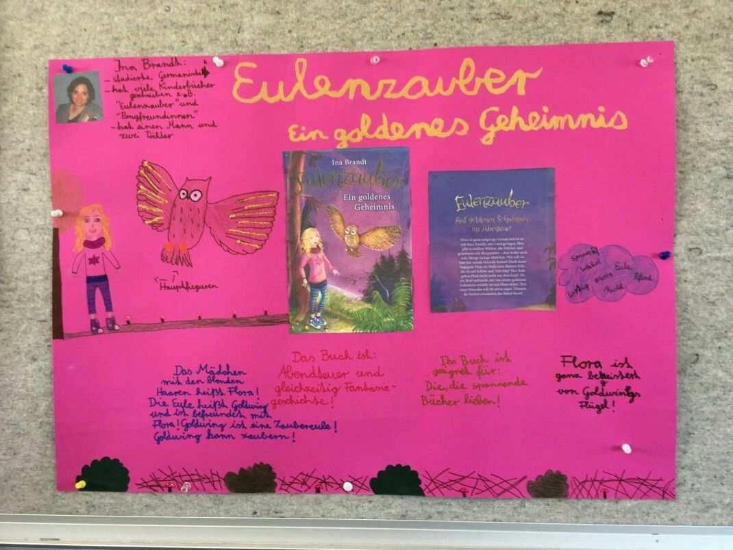 Plakat Buchvorstellung Grundschule Bucher Buchvorstellung