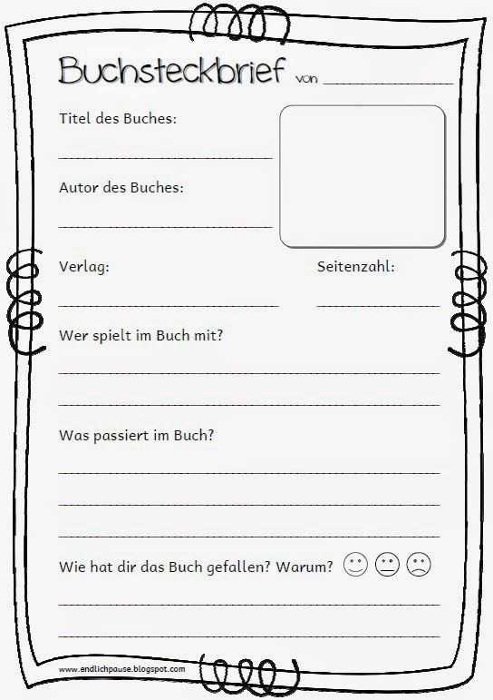 Buchvorstellung Buchvorstellung Grundschule Grundschule
