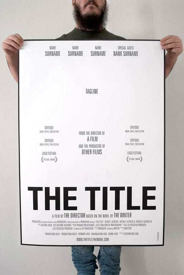 How To Make A Movie Poster A Template For Students Plakat