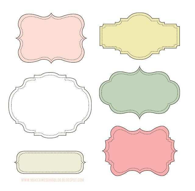 Free Label Frame Printables Kostenlose Etikettenvorlagen