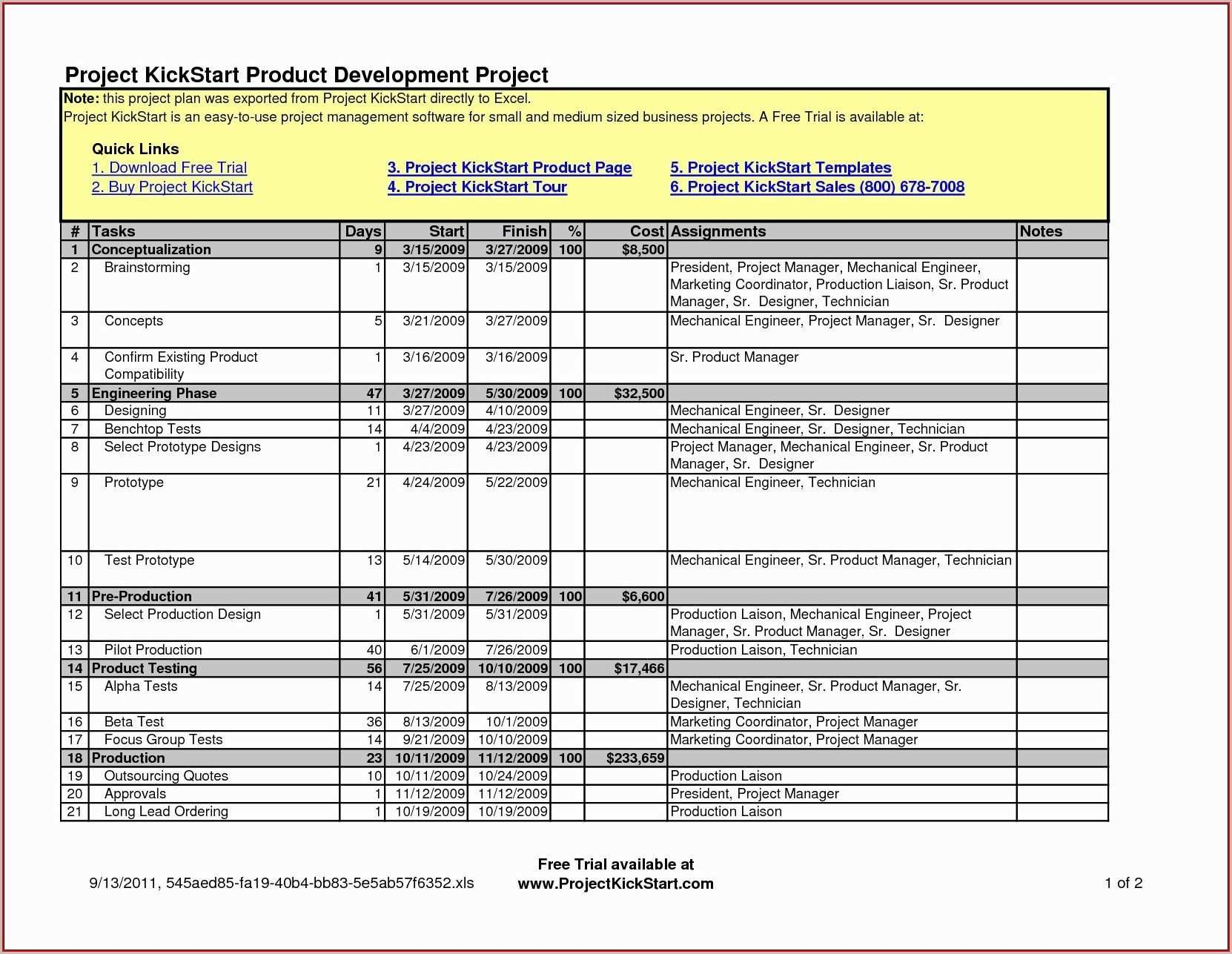 New Excel Project Management Tracking Templates Xlstemplate