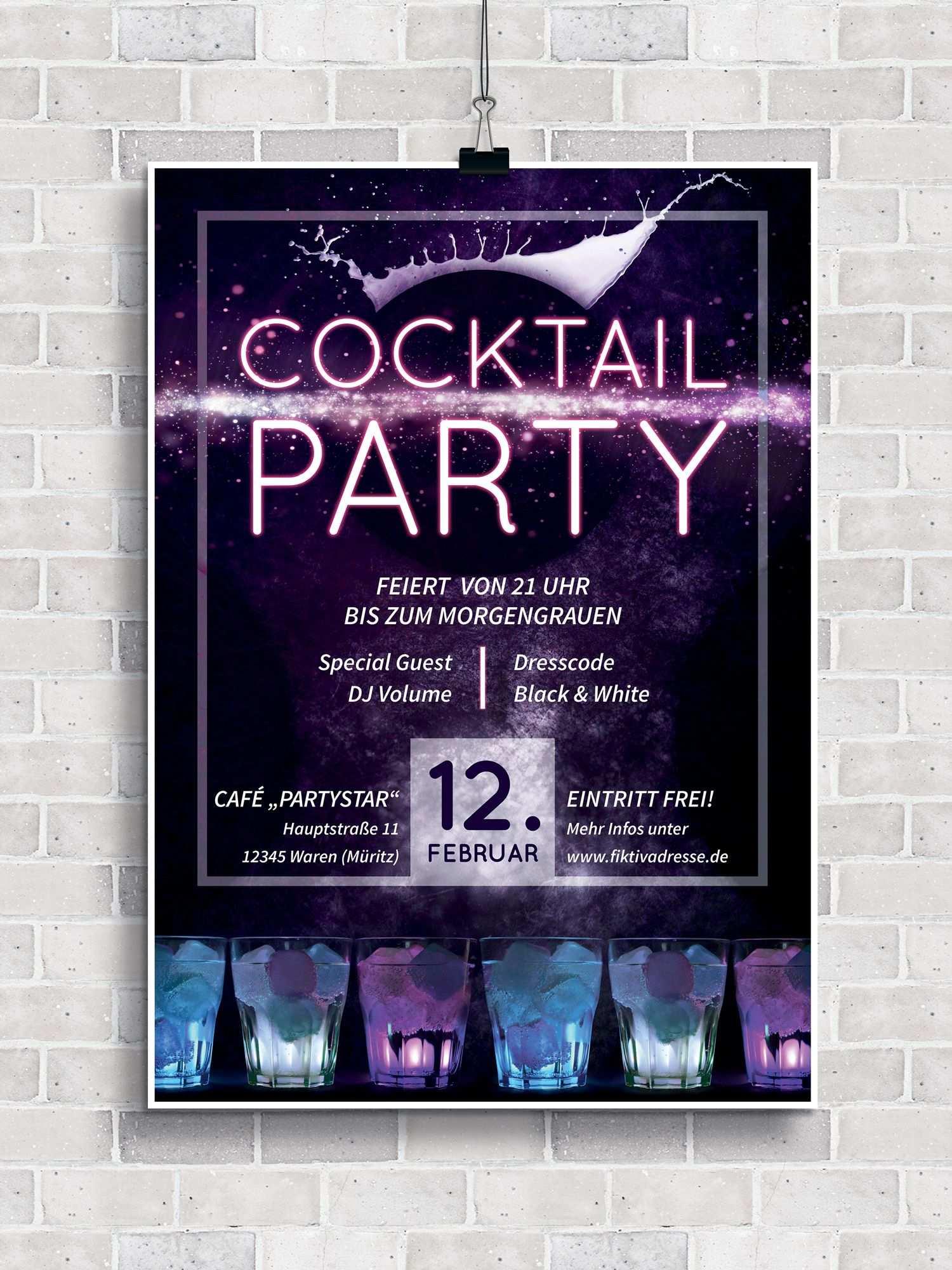 Party Flyer Plakate Und Poster Vorlagen Fur Cocktailpartys