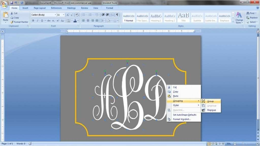 How To Create A Monogram In Word Words Monogram Crafty Craft